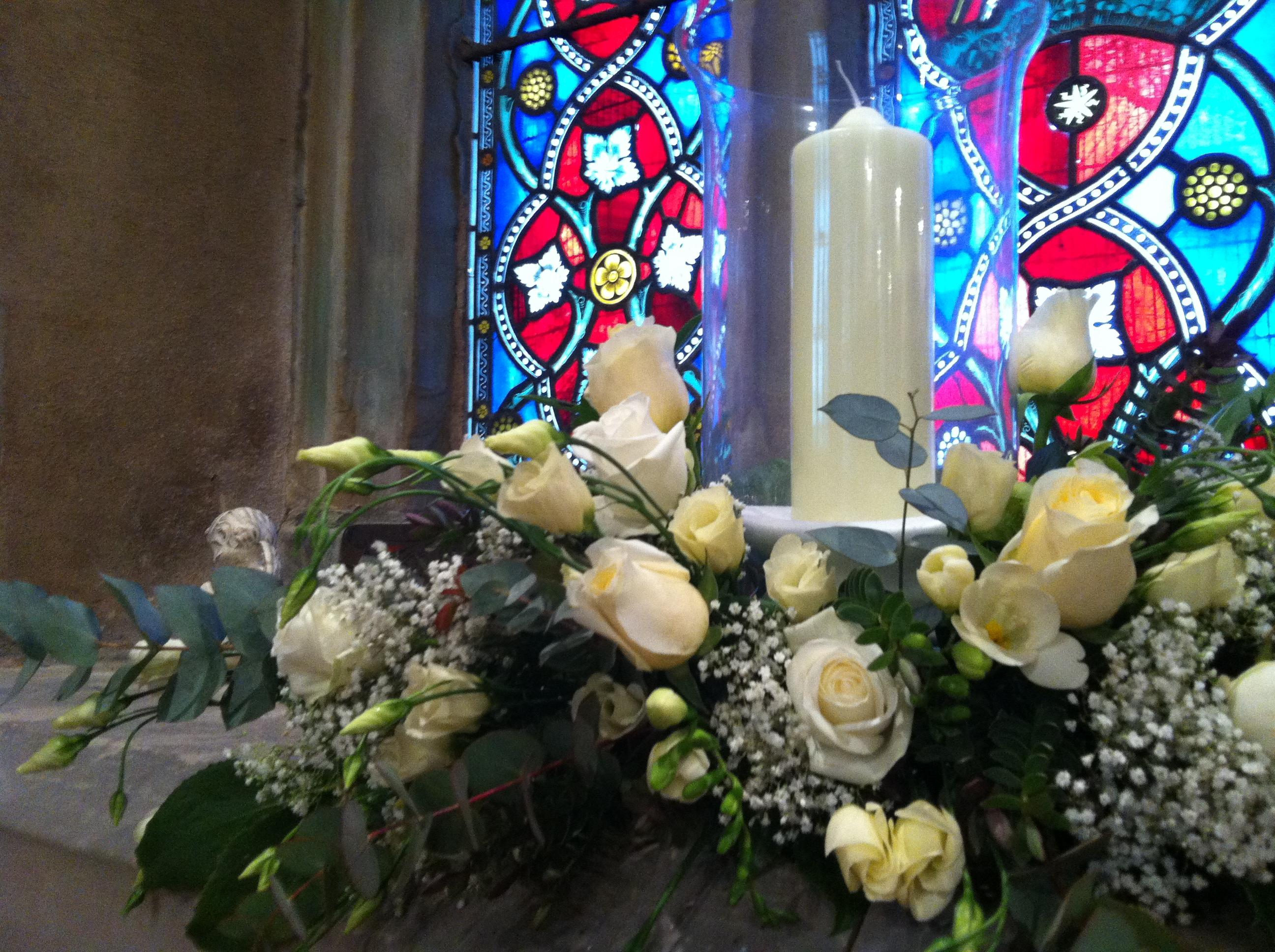 Wedding flowers in aston flamville dawsons beck call window displays wedding flowers aston flamville junglespirit Gallery